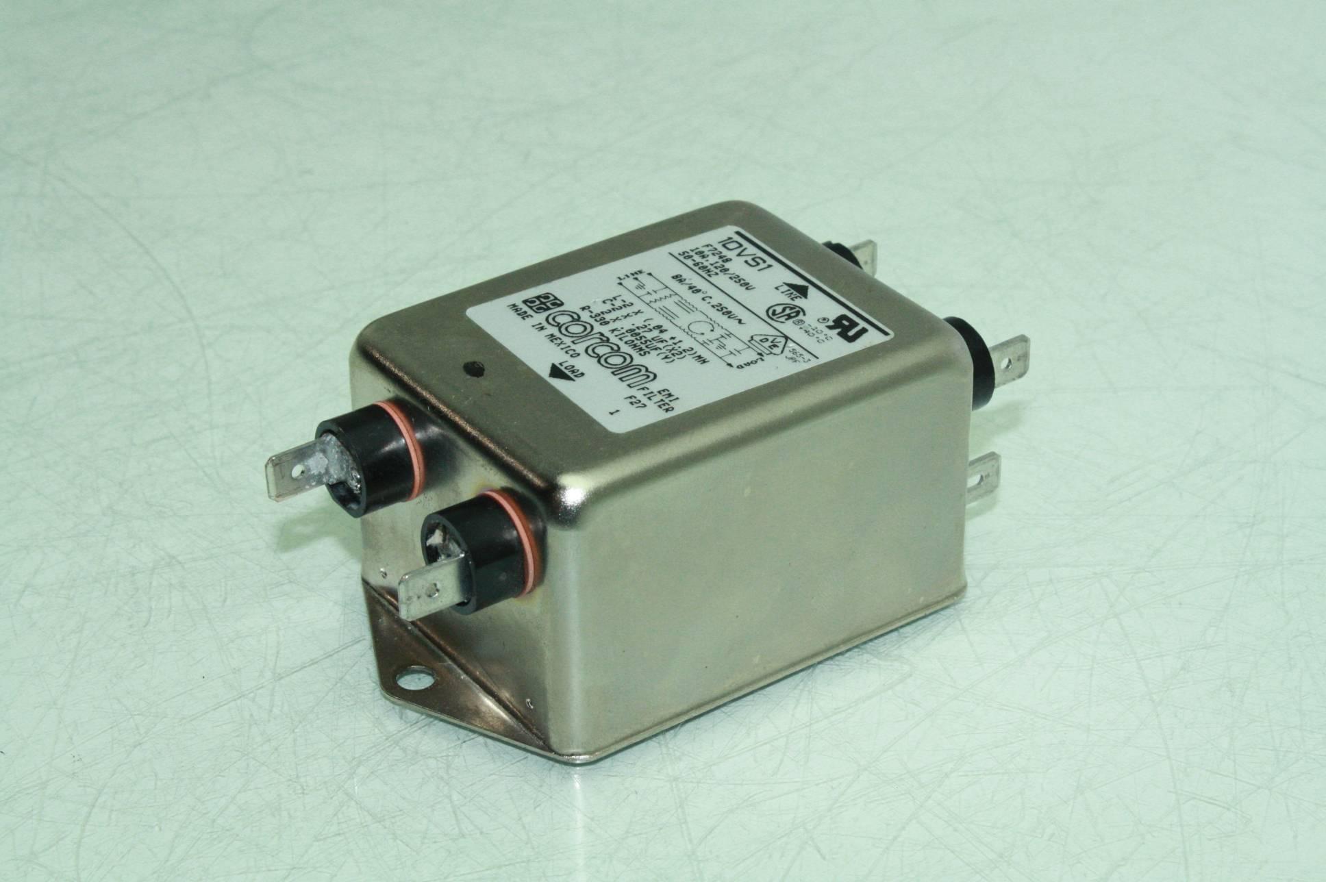 Corcom Emi Filter 10vs1 Single Phase Power Line Filter 120  250v    10 Amps