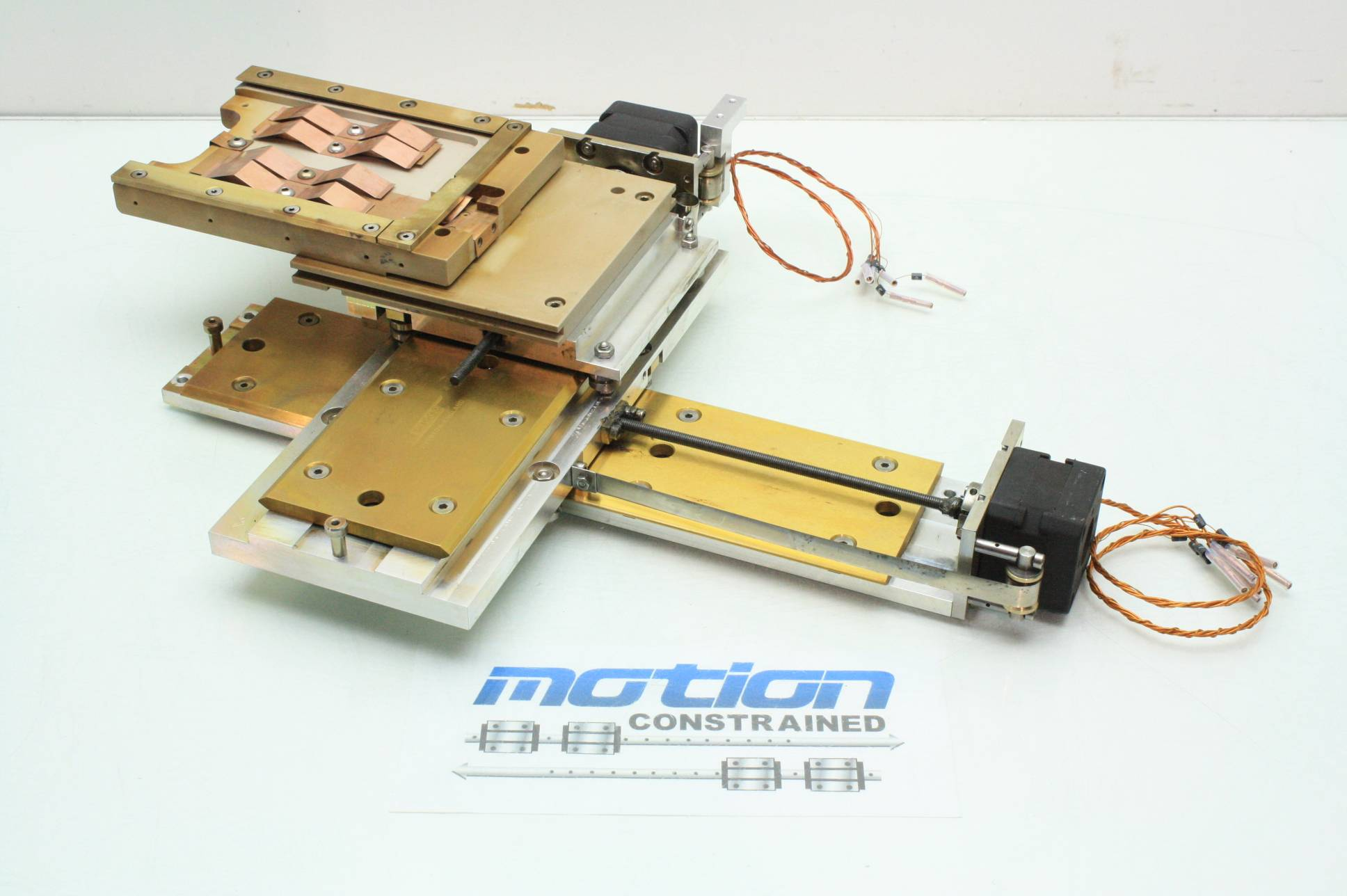 2 axis hepco motion high vacuum chamber stepper motor for Linear actuator stepper motor driven