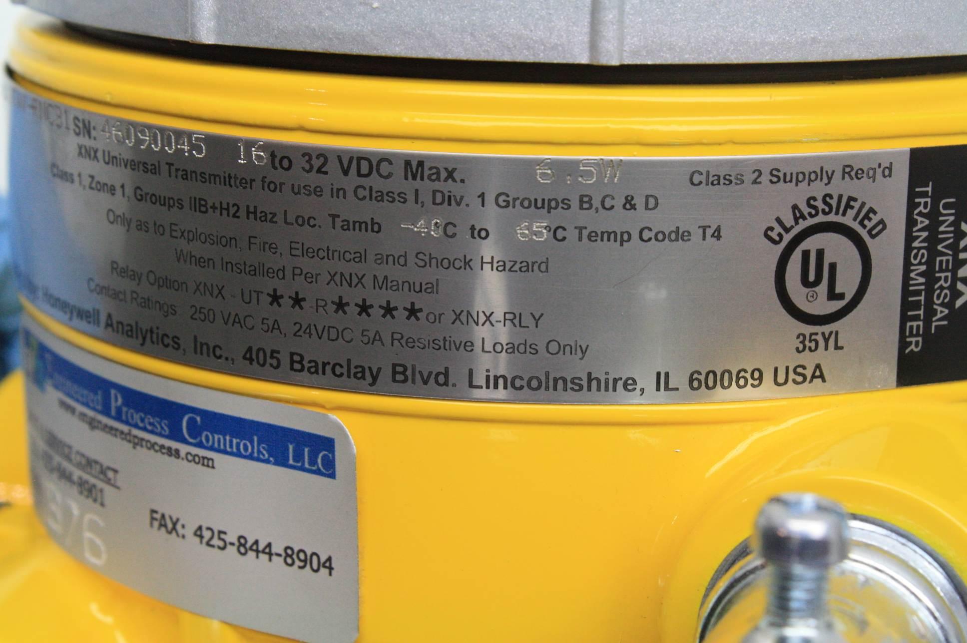 Honeywell Universal Transmitter Xnx Utav Rncb1 Gas
