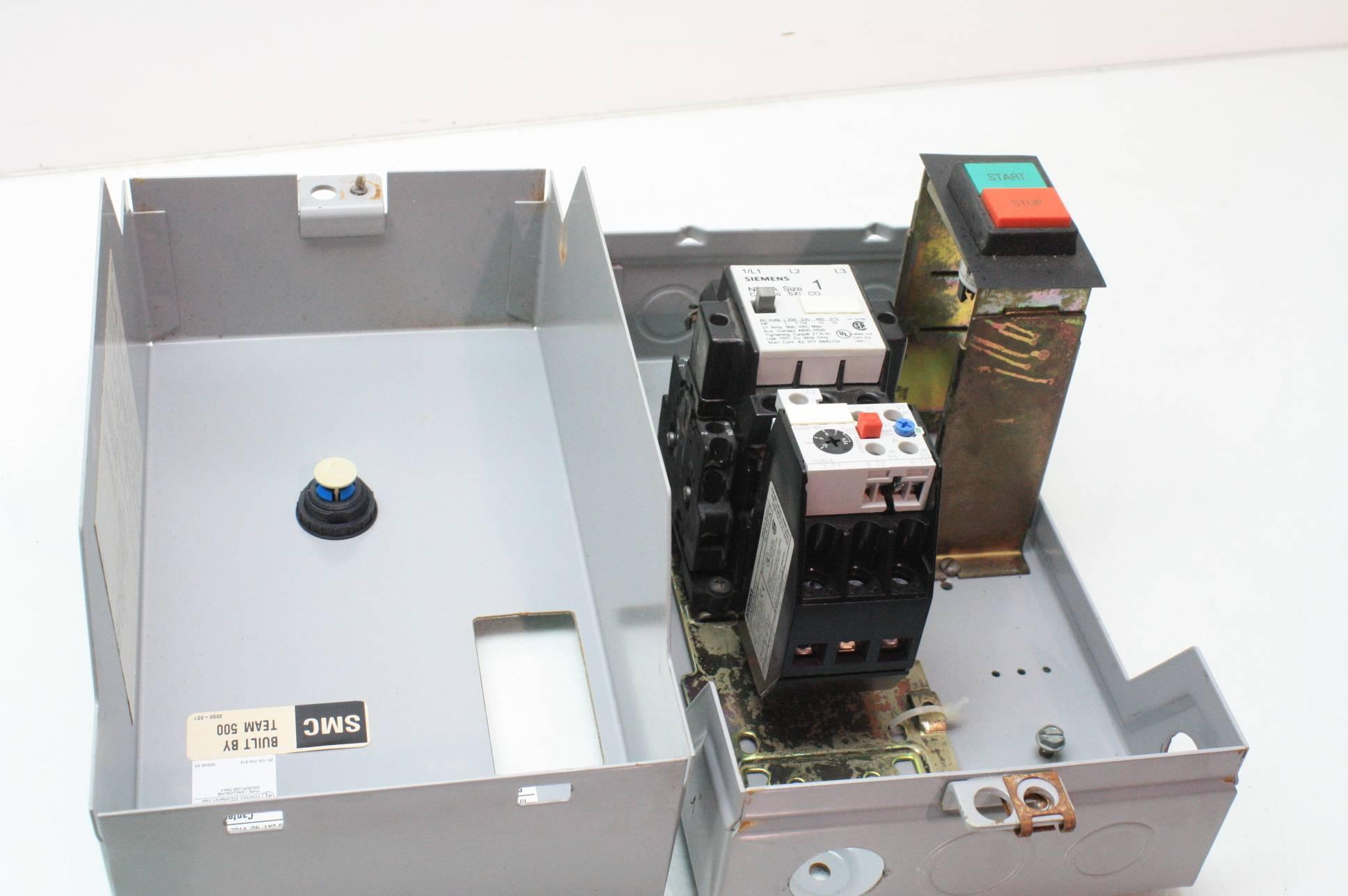 Siemens Sxl Cg Co Motor Starter Nema Size 1 With Wall
