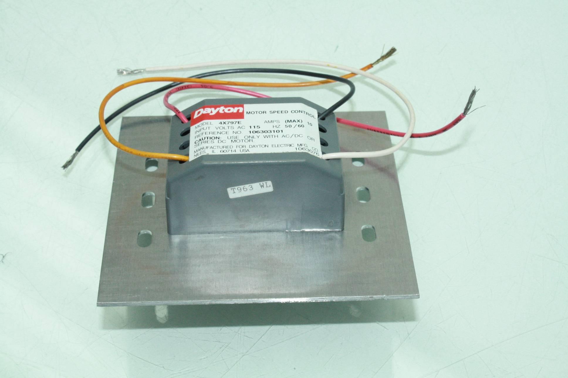 Dayton Fan Motor Speed Control 4x797e 10 Amps 115v Ac Ebay