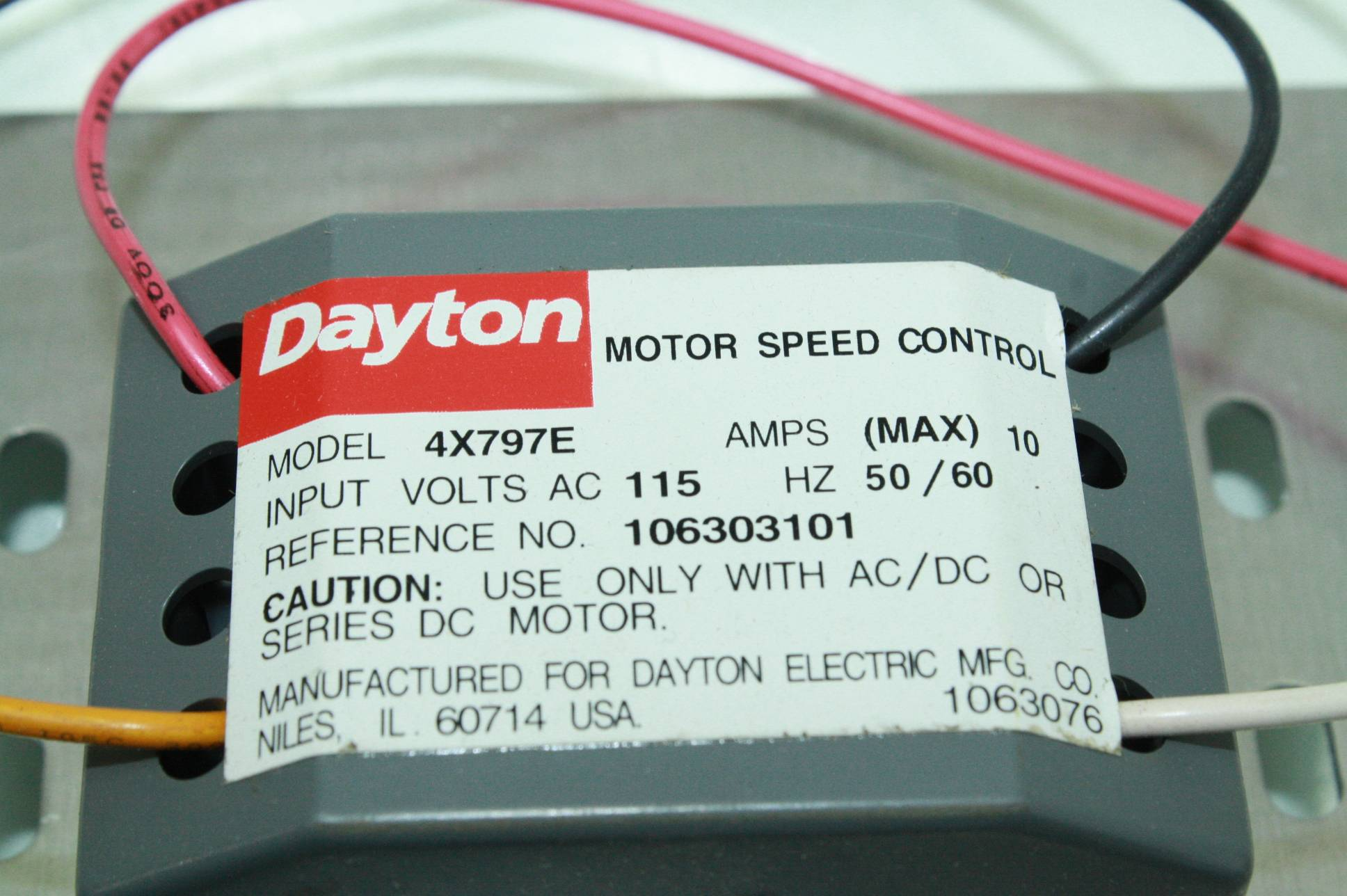 Dayton sd control Ac manual on