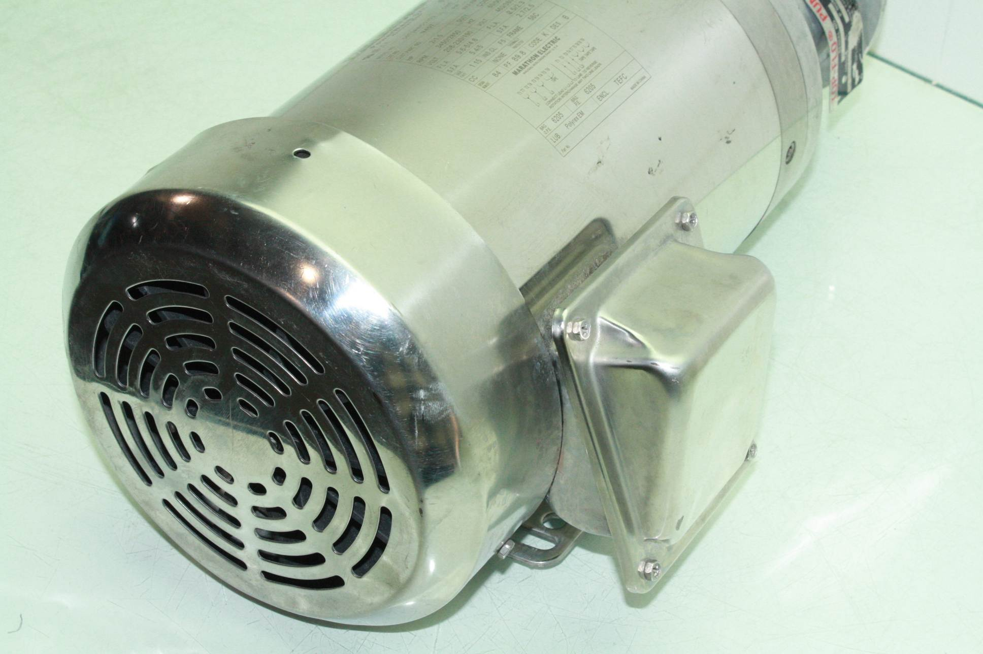 Marathon Electric 2 Hp Washdown Stainless Steel Motor Top