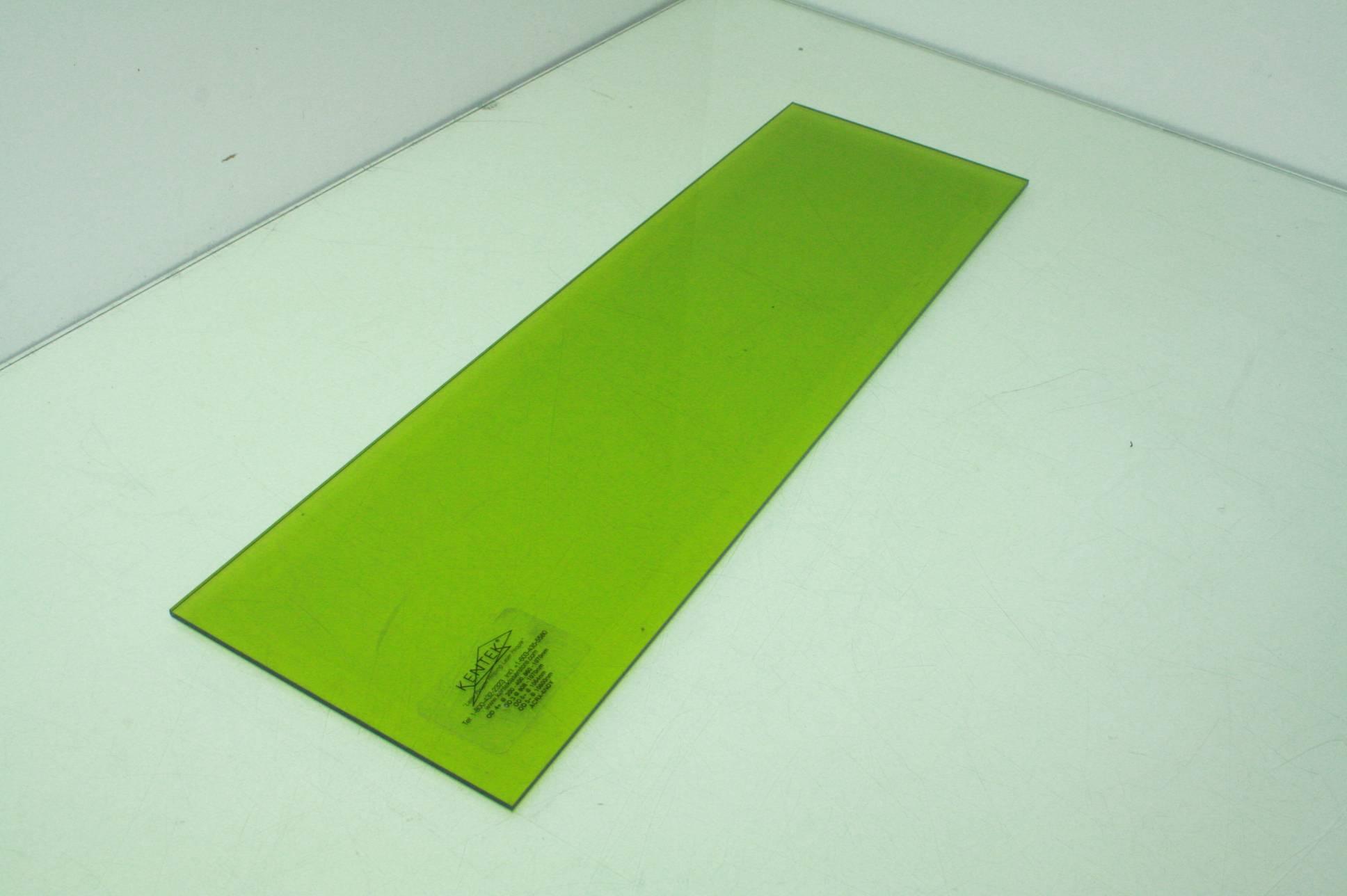 Lot Of Five Kentek Acrx 6ndy Acrylic Laser Safety Glass