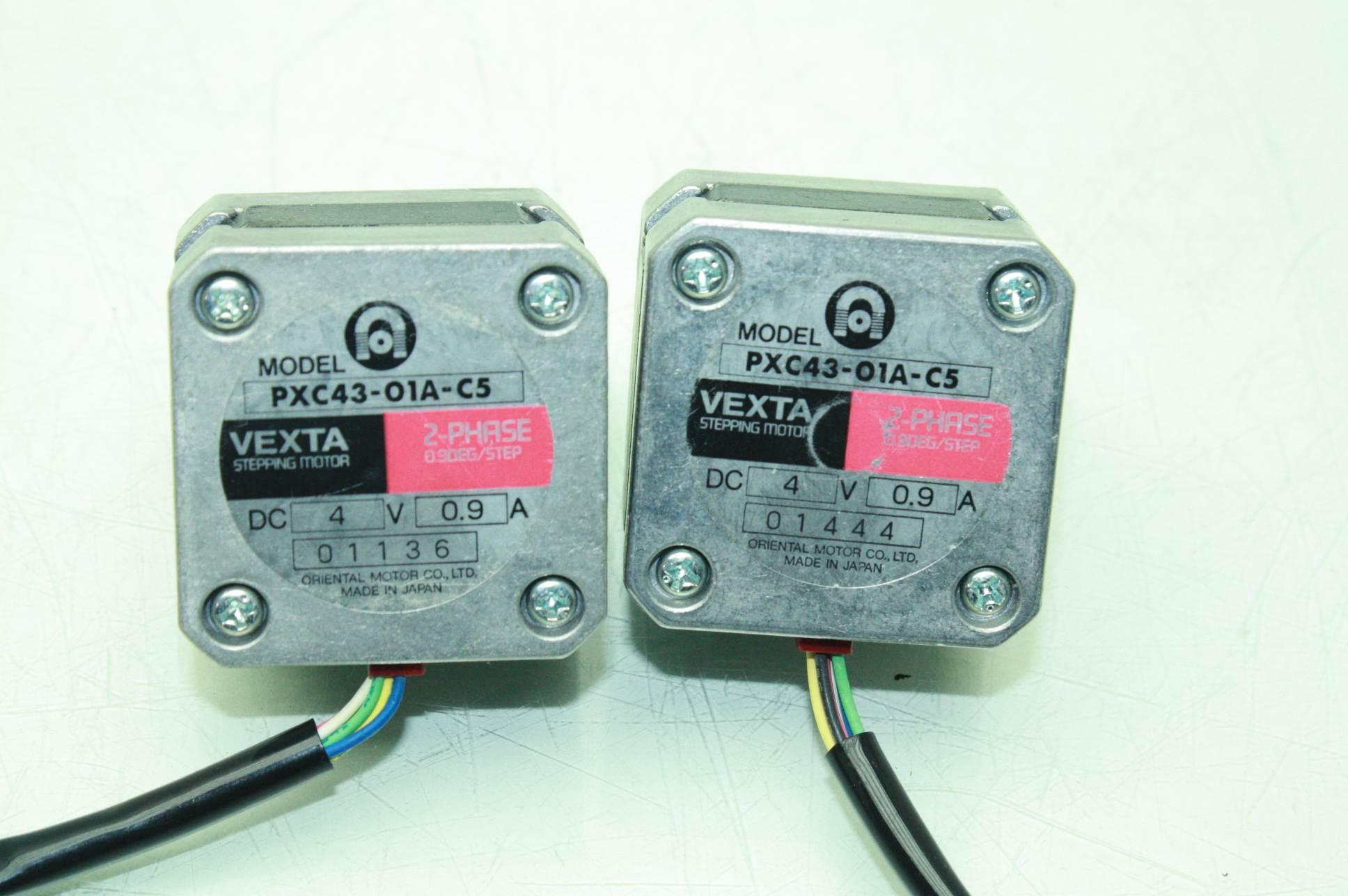 Lot of two oriental motor vexta nema 17 stepper motors for Three phase stepper motor