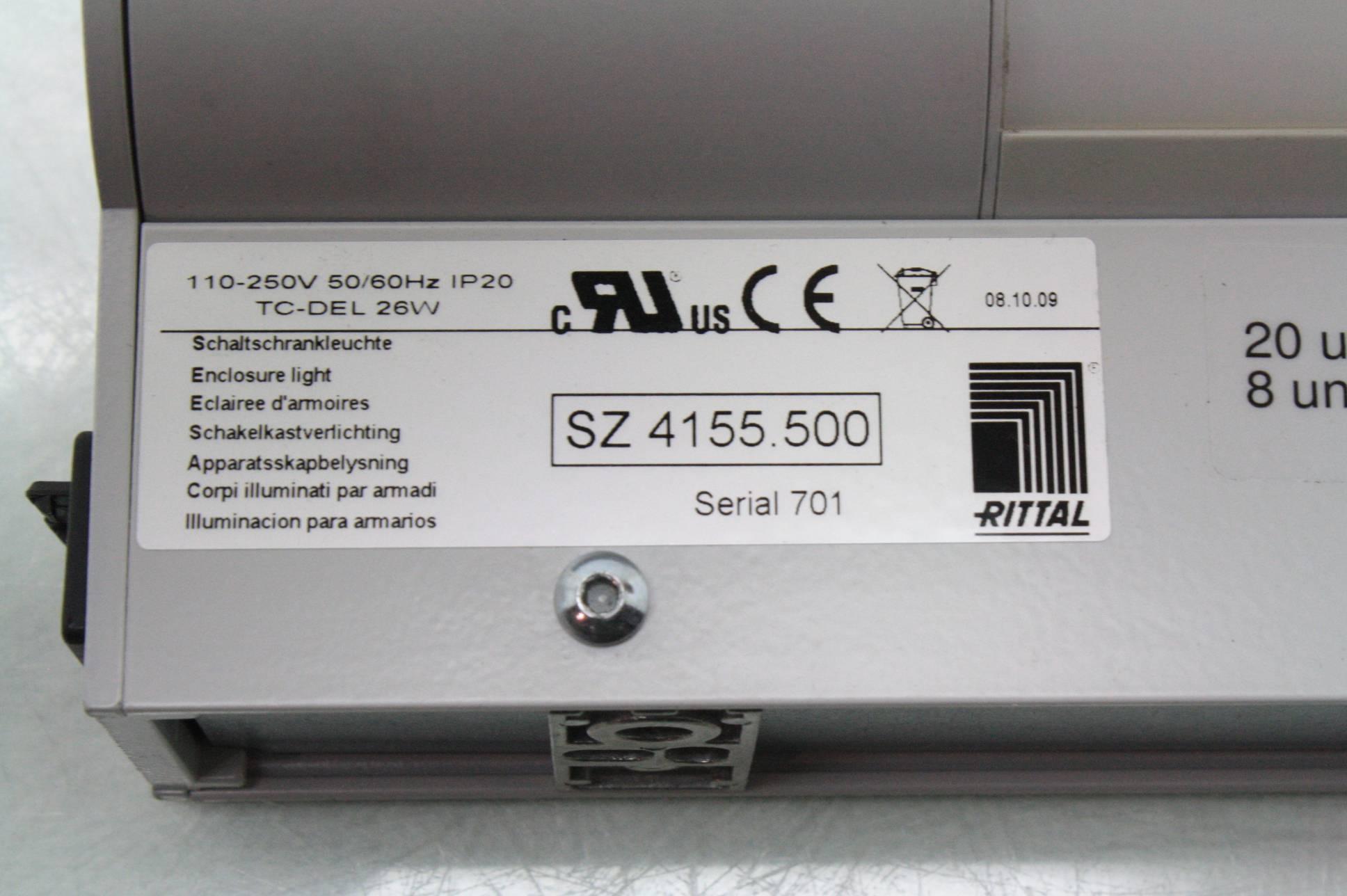 Rittal Sz 4155 500 Industrial Control Enclosure Light Fixture 110-250v - Used