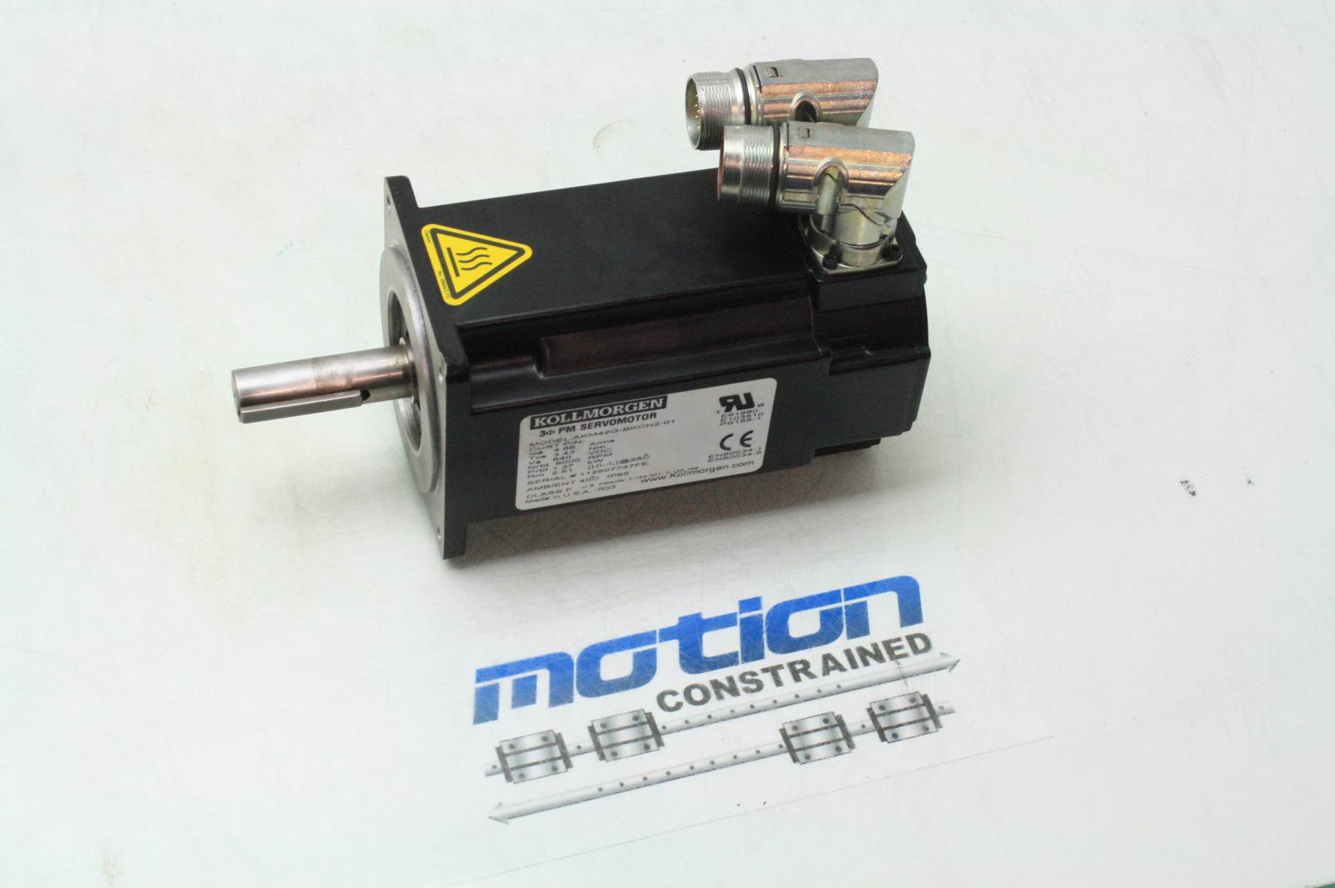 Danaher kollmorgen akm42g bkcn2 01 brushless ac servo for 6000 rpm ac motor